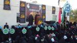 تصاویر: تشیع نمادین زنانه پیکر حضرت زهرا سلام الله علیها در دفتر مرجع عالیقدر شیخ محمد یعقوبی در عراق شهر مثنى برگزار شد